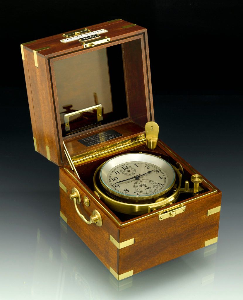 Detail of Deck watch in case by Hamilton Watch Co.