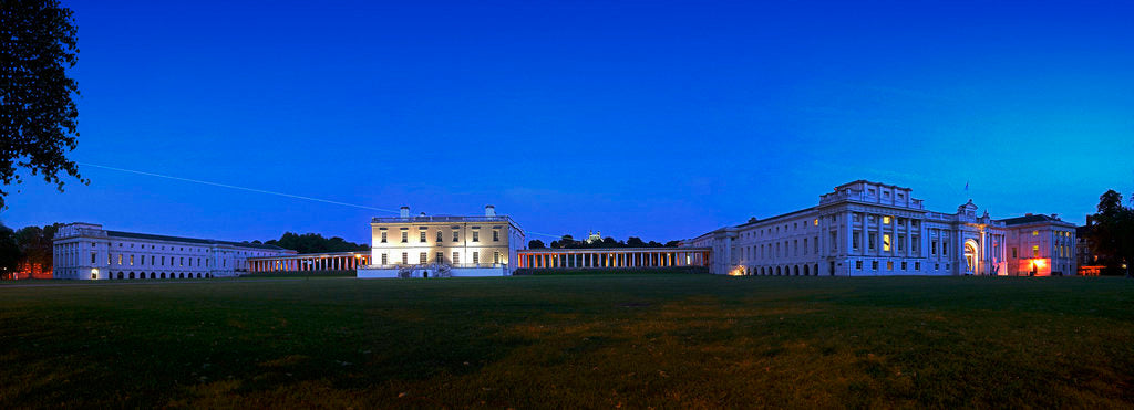 Detail of Panoramic evening view of the Queen's House and National Maritime Museum, Greenwich by National Maritime Museum Photo Studio