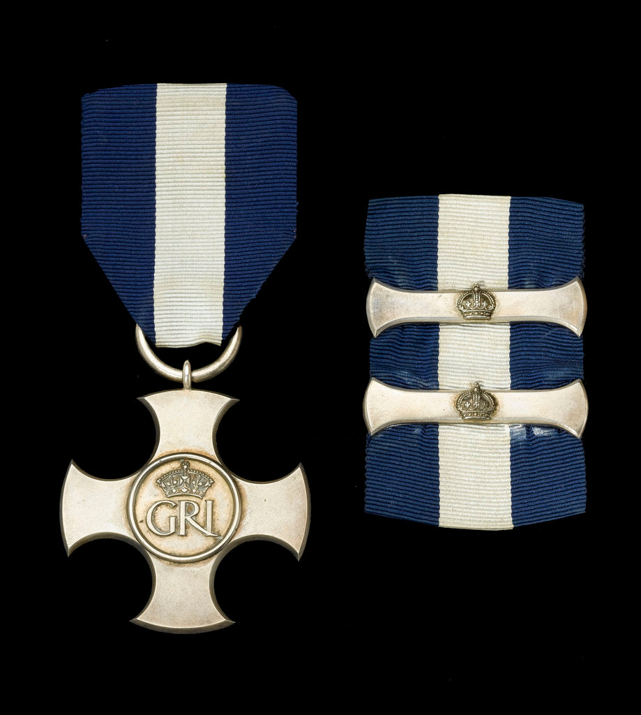 Detail of Distinguished Service Cross, with two bars, obverse by Garrard & Co.