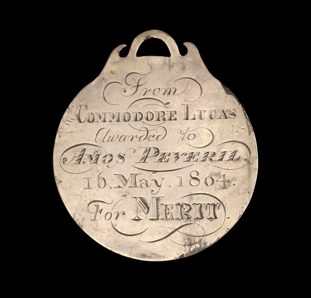 Detail of Prize medal, River Fencibles 1804, reverse by unknown