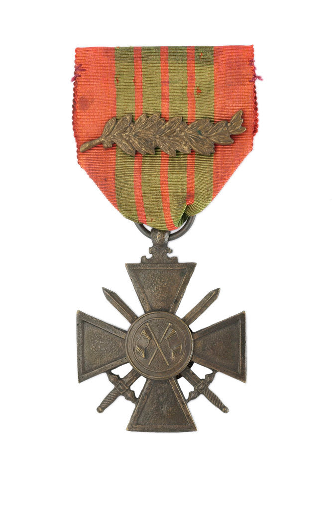 Detail of Croix de Guerre 1943, obverse by unknown
