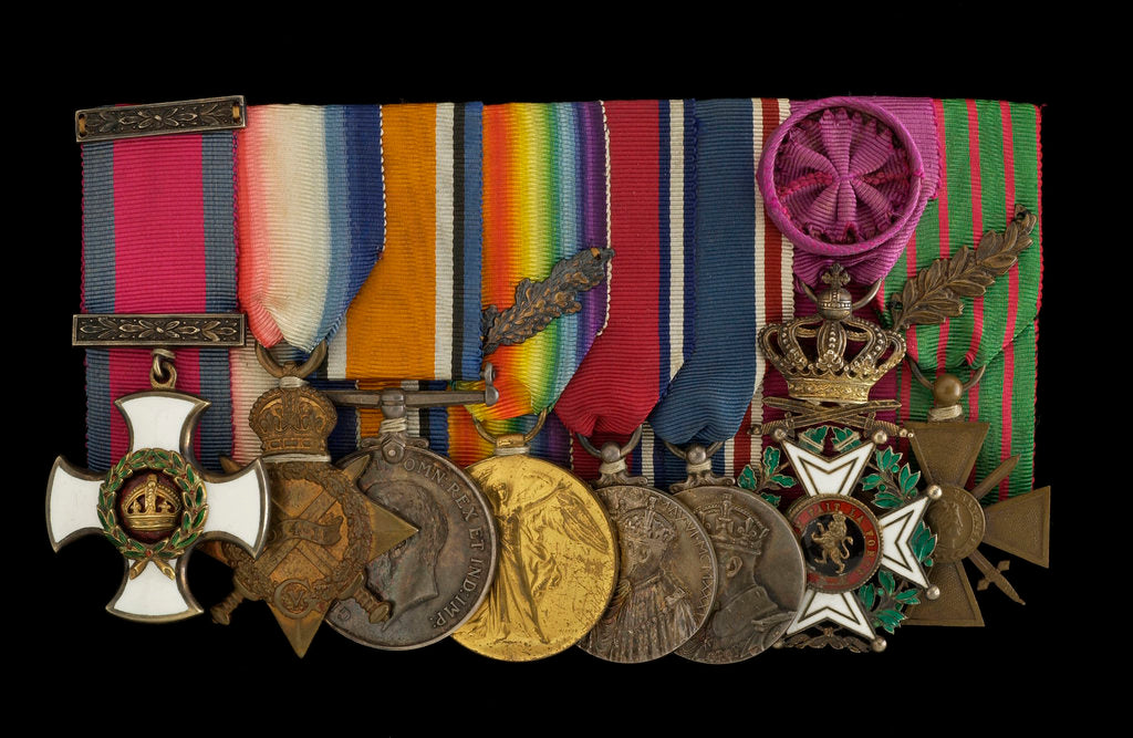 Detail of Medals awarded to Captain E. Wigram DSM RN (obverse, left to right, MED1219-1226) by W. Wyon