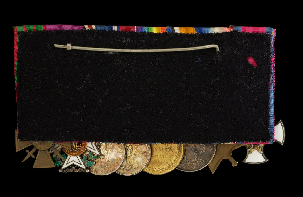 Medals awarded to Captain E. Wigram DSM RN (reverse, right to left, MED1219-1226) by W. Wyon