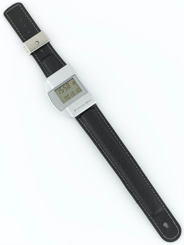 Detail of Wristwatch face and strap by Junghans