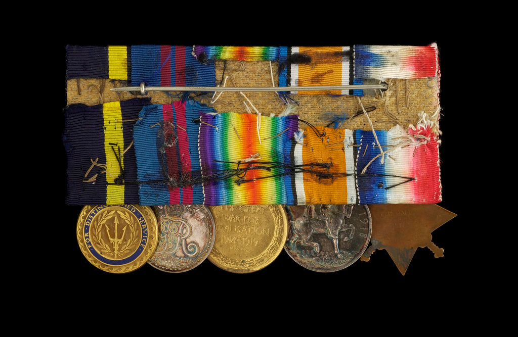 Detail of Medals awarded to Admiral Sir W. Reginald Hall (reverse, right to left, MED1988-1992) by unknown