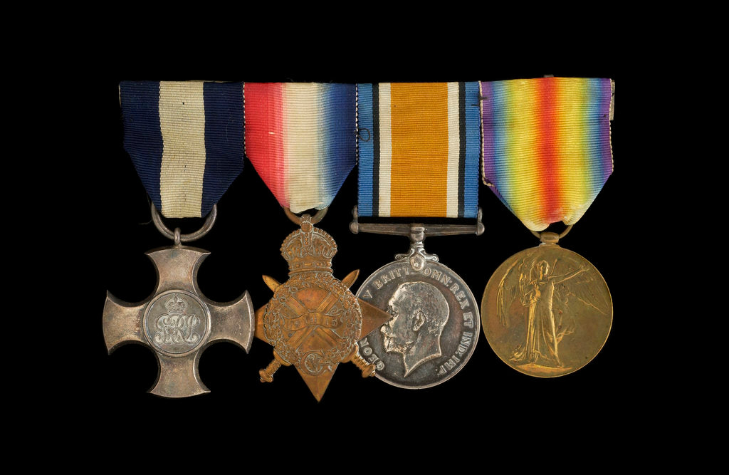 Detail of Medals awarded to Captain Frederick Henry Taylor CBE DSC RN (obverse, l to r, MED1412-1415) by unknown