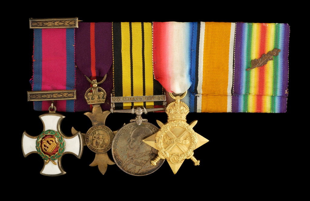 Detail of Medals awarded to Commander Richard Bolton DSO (obverse, l to r, MED1543-1546) by unknown