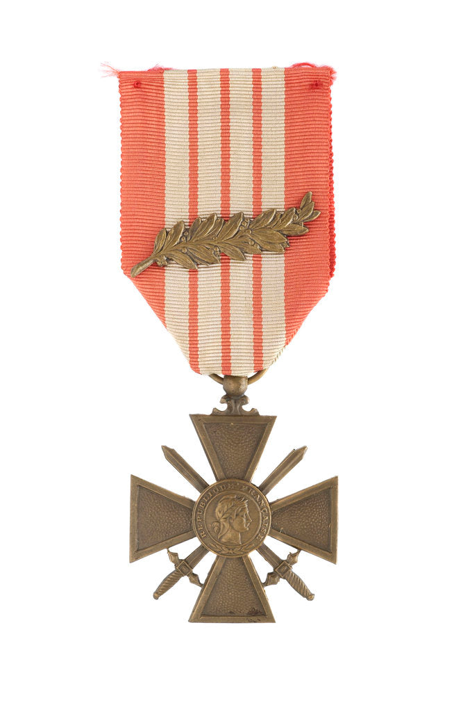 Detail of Croix de Guerre 1939, obverse by unknown
