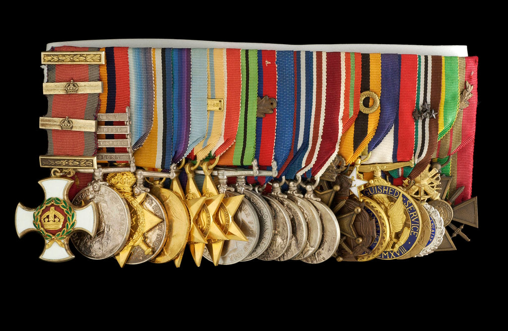 Detail of Medals awarded to Admiral of the Fleet Lord Cunningham of Hyndhope (obverse, left to right, MED2647-2667) by unknown