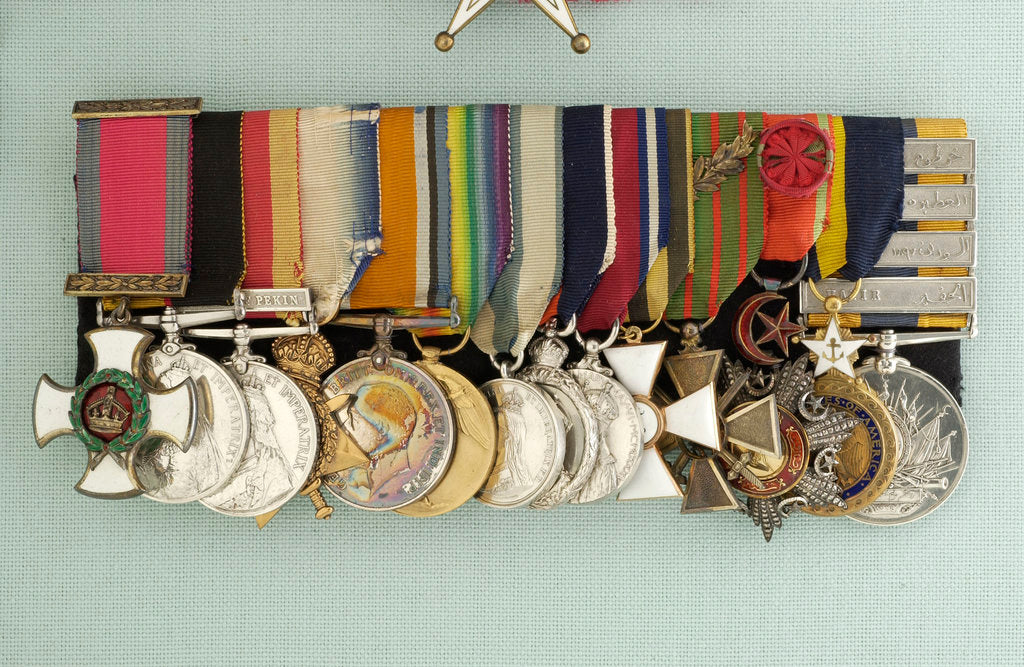 Detail of Medals awarded to Admiral of the Fleet, Earl David Beatty (obverse, left to right, MED2214-27) by W. Wyon