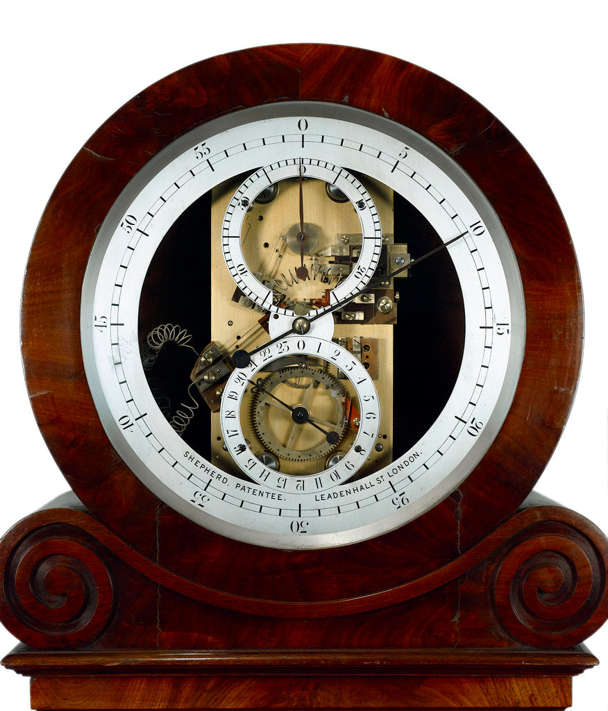 Detail of Electrical master clock, face by Shepherd