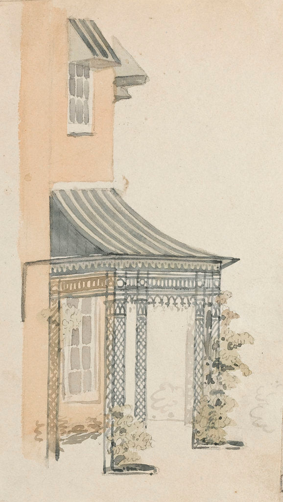 Detail of A verandah at Merton by Thomas Baxter