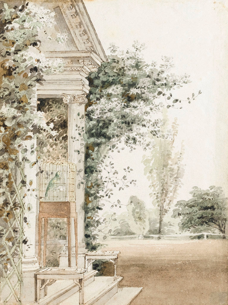Detail of A portico at Merton, probably the main entrance by Thomas Baxter