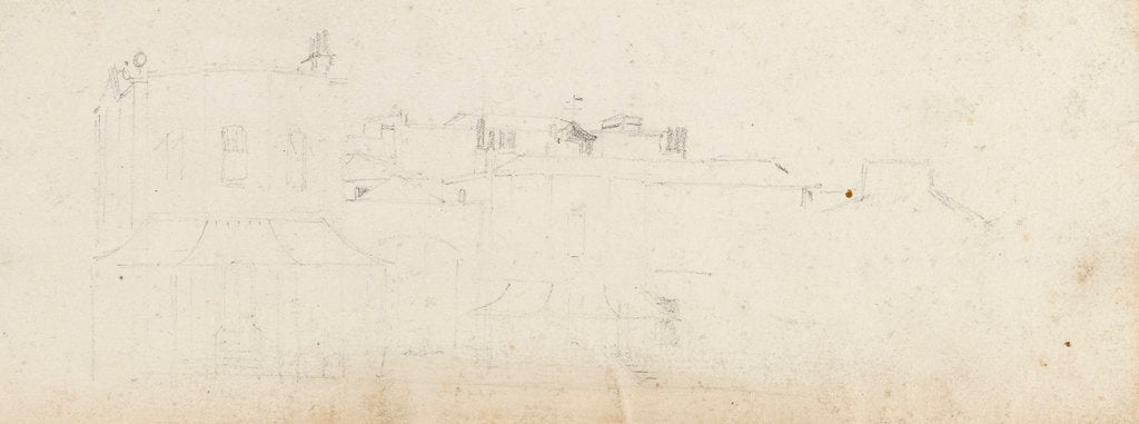 Detail of A view of Merton Place, possibly from the west by Thomas Baxter