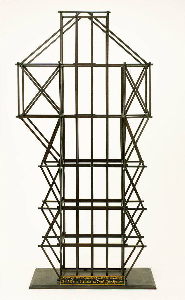 Detail of Model scaffolding used for Nelson's Column by unknown