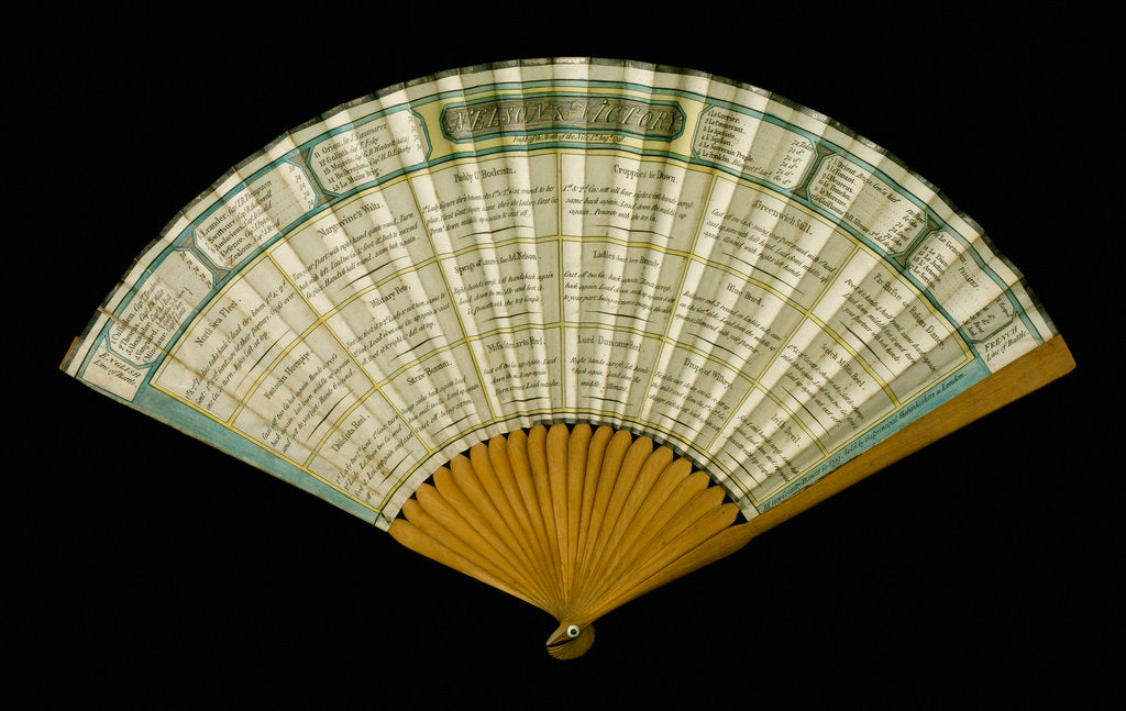 Detail of Fan commemorating the Battle of the Nile, 1798 by unknown