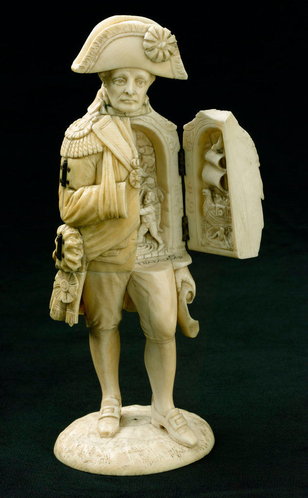 Detail of Statuette depicting Vice-Admiral Horatio Nelson (1758-1805) by unknown