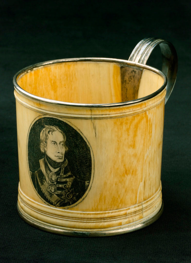 Detail of Ivory cup commemorating Vice-Admiral Horatio Nelson (1758-1805) by unknown