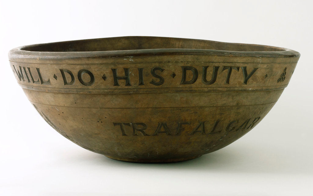 Detail of Wooden bowl commemorating Vice-Admiral Horatio Nelson (1758-1805) by unknown