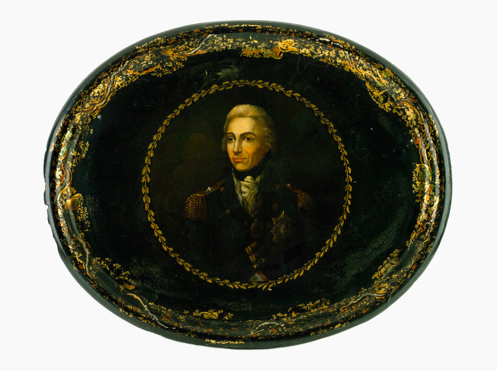 Detail of Tray commemorating Vice-Admiral Horatio Nelson (1758-1805) by Lemuel Francis Abbott