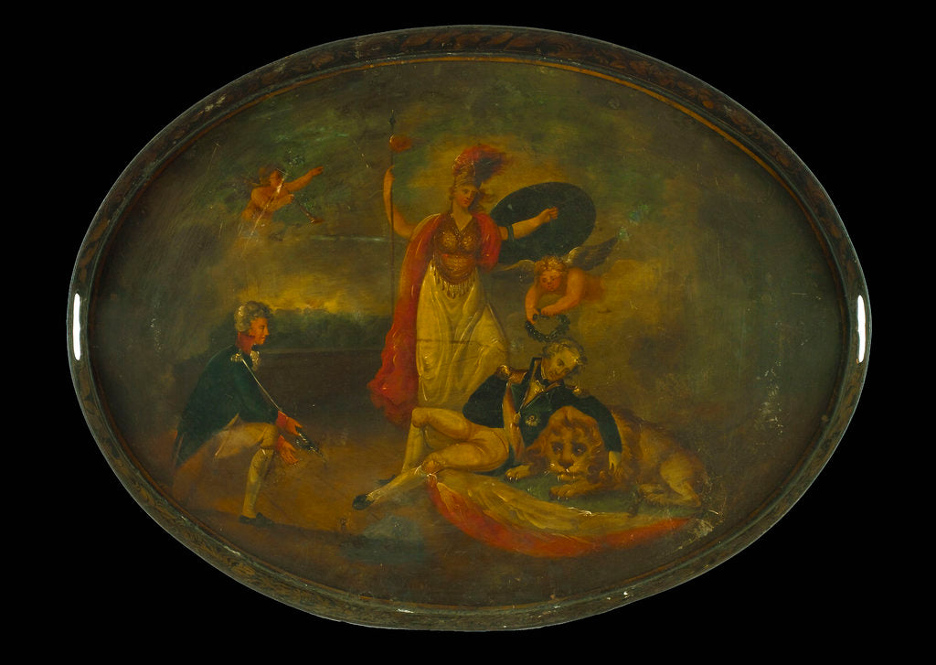 Detail of Tray commemorating Vice-Admiral Horatio Nelson (1758-1805) by unknown