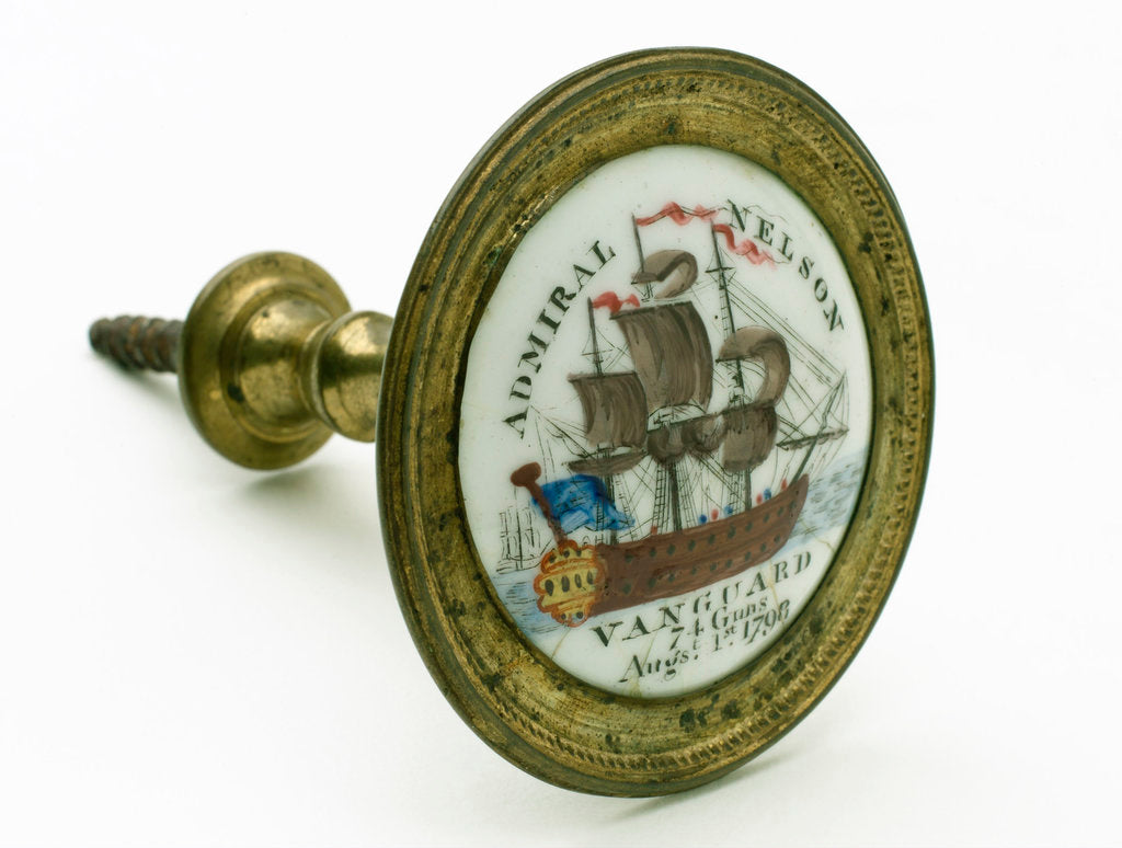 Detail of Curtain tie commemorating Vice-Admiral Horatio Nelson (1758-1805) by unknown