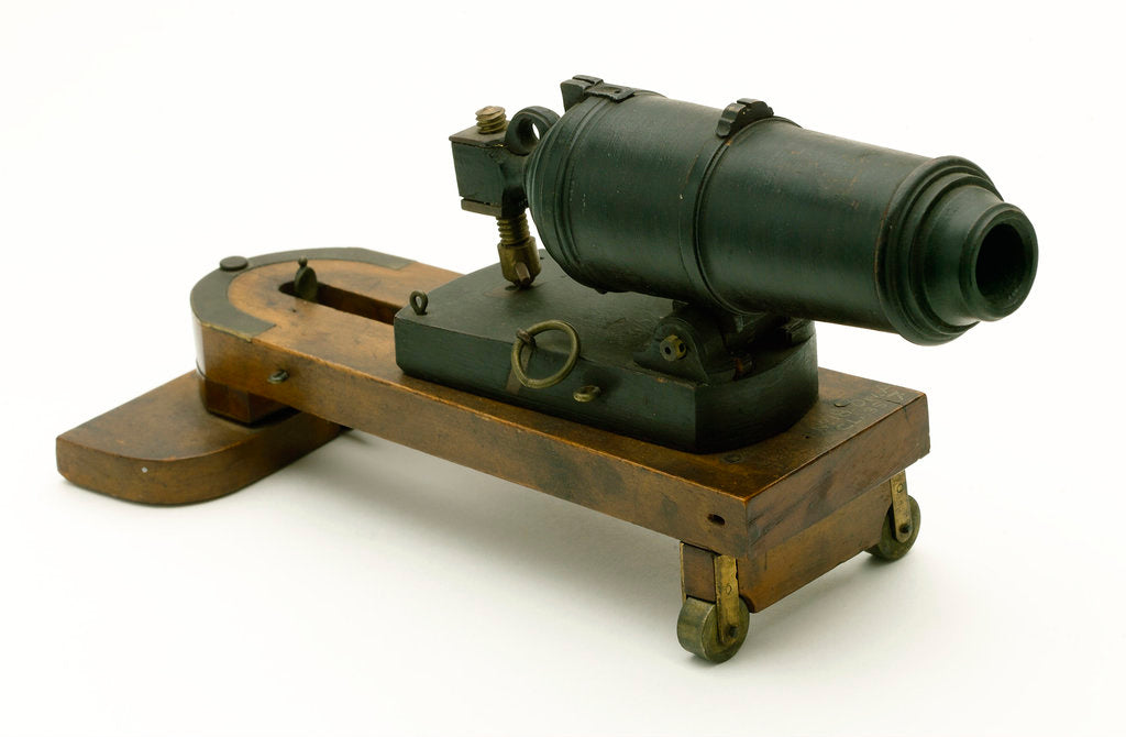 Detail of Carronade model by unknown