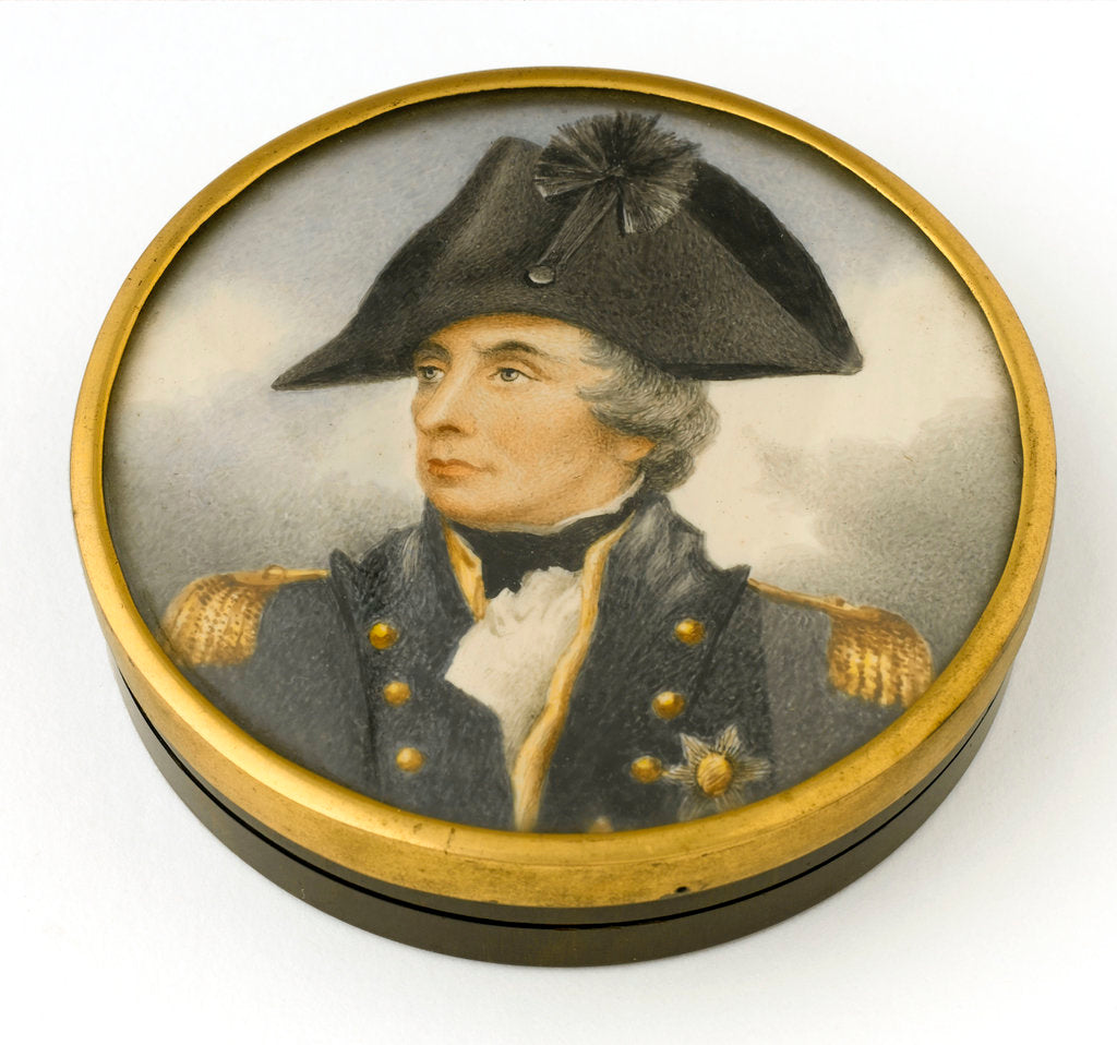 Detail of Box commemorating Vice-Admiral Horatio Nelson (1758-1805) by Arthur William Devis