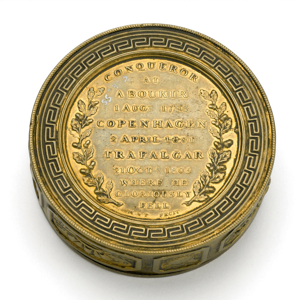 Detail of Seal box commemorating Vice-Admiral Horatio Nelson (1758-1805) by Nathaniel Marchant