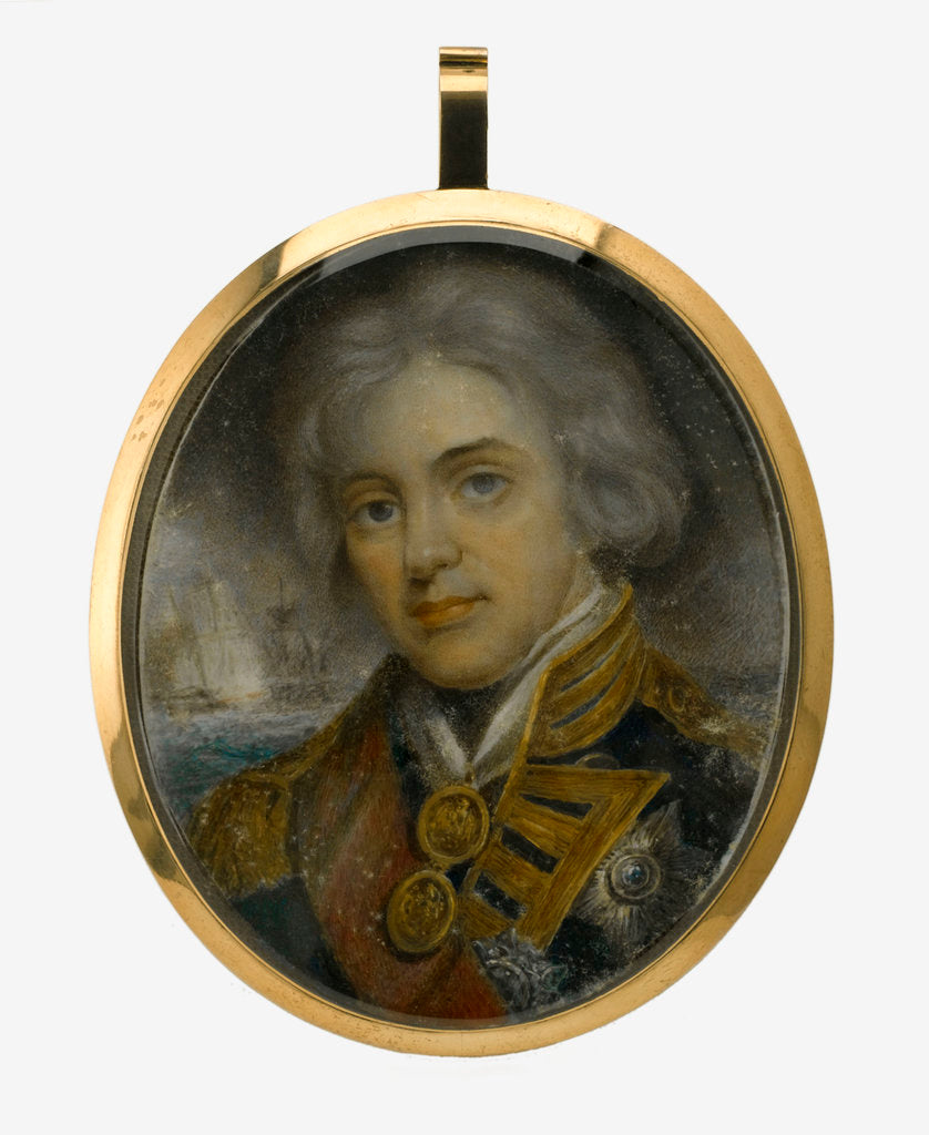Detail of Miniature painting depicting Vice-Admiral Horatio Nelson (1758-1805) by John Hoppner