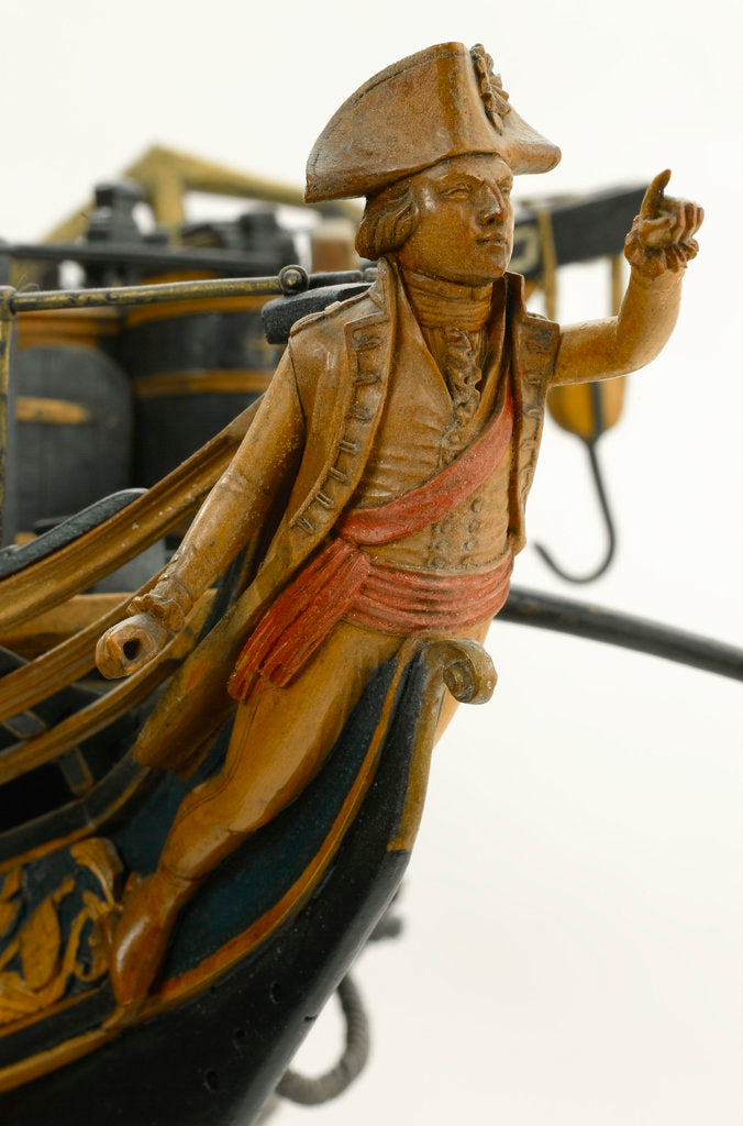 Detail of Ship of 74 guns, figurehead by unknown