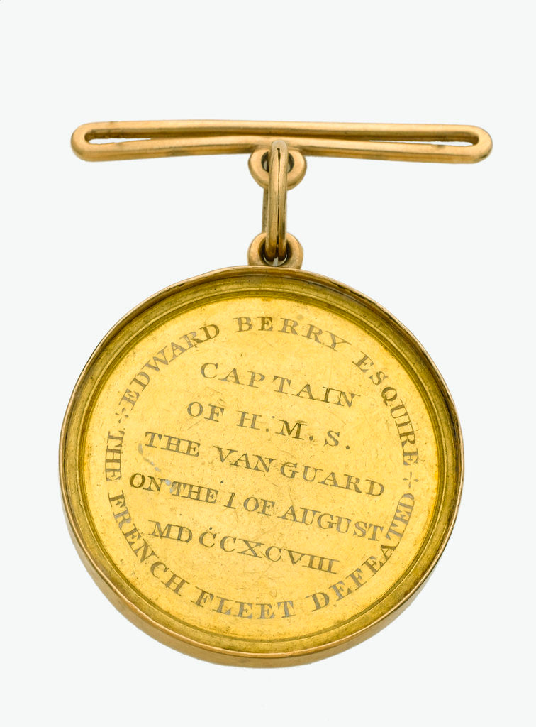 Detail of Naval Gold Medal (Captain's) for the Battle of the Nile, 1798, reverse by Lewis Pingo