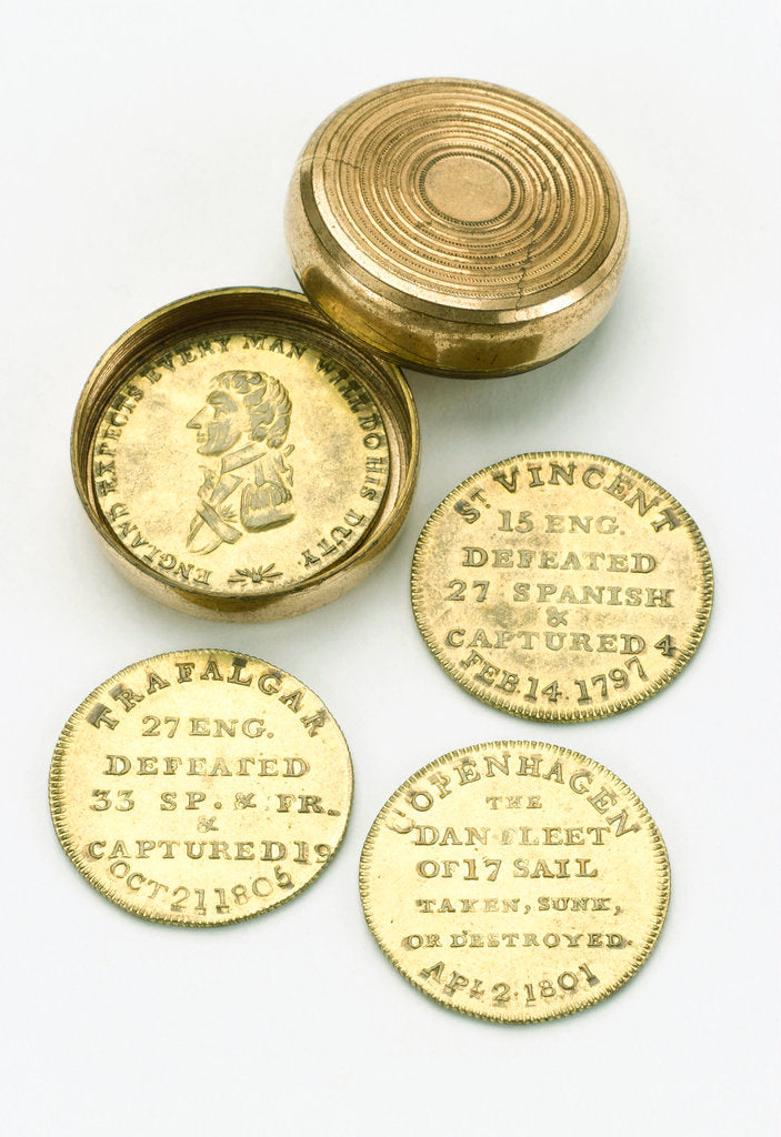 Detail of Token box commemorating Vice-Admiral Horatio Nelson (1758-1805) by unknown