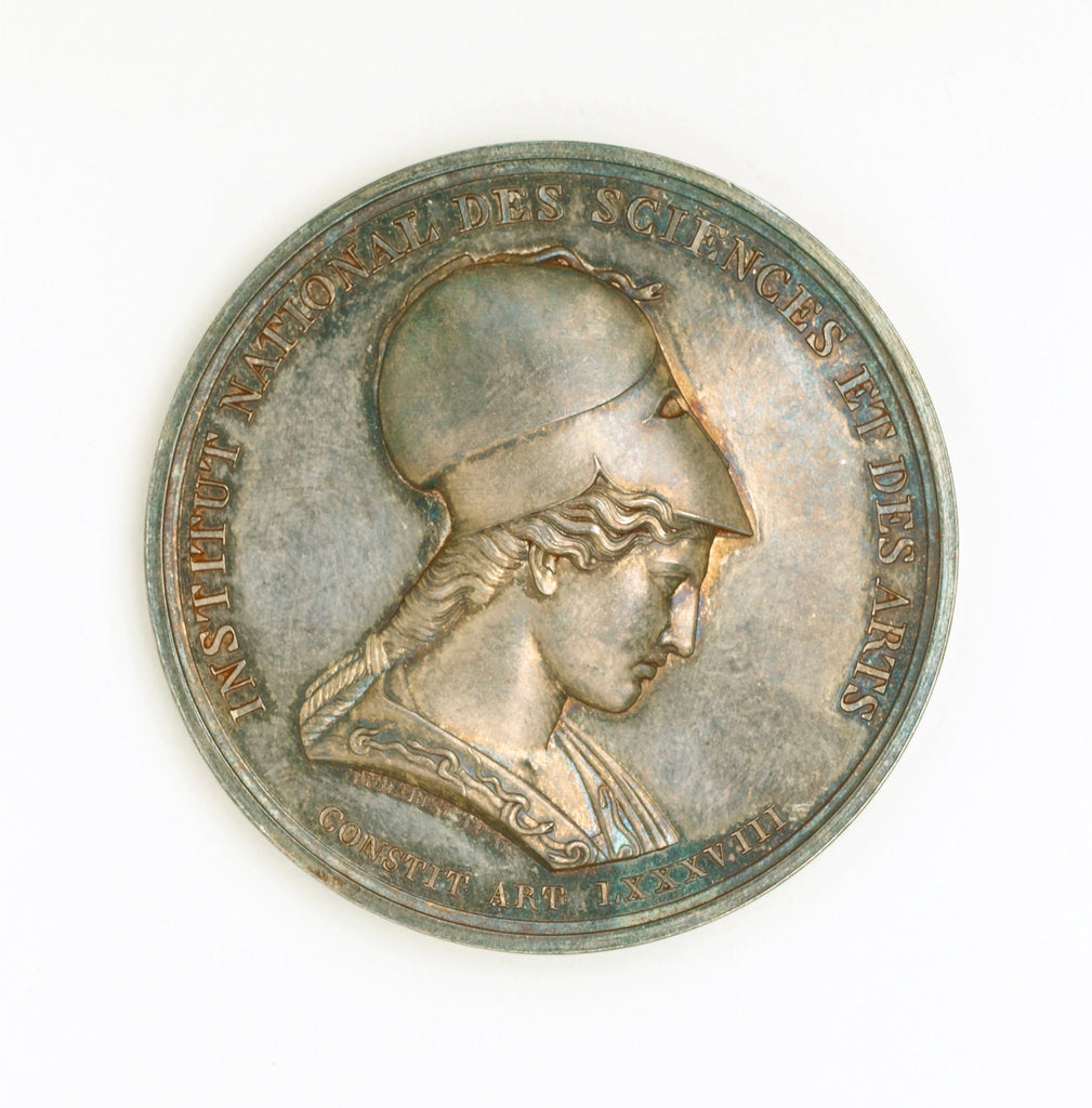 Detail of Prize medal, Institute National des Sciences et des Arts, obverse by Rambert Dumarest