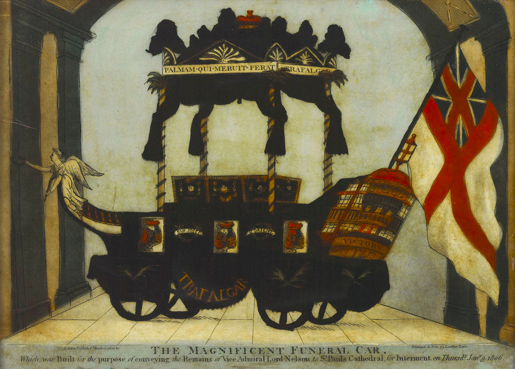 Detail of The Magnificent Funeral Car Which was Built for the purpose of conveying the Remains of Vice-Admiral Lord Nelson to St Pauls' by Stampa & Son