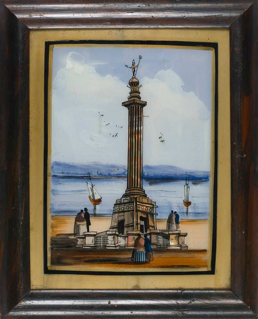 Detail of Picture on glass: The Nelson monument at Great Yarmouth by unknown
