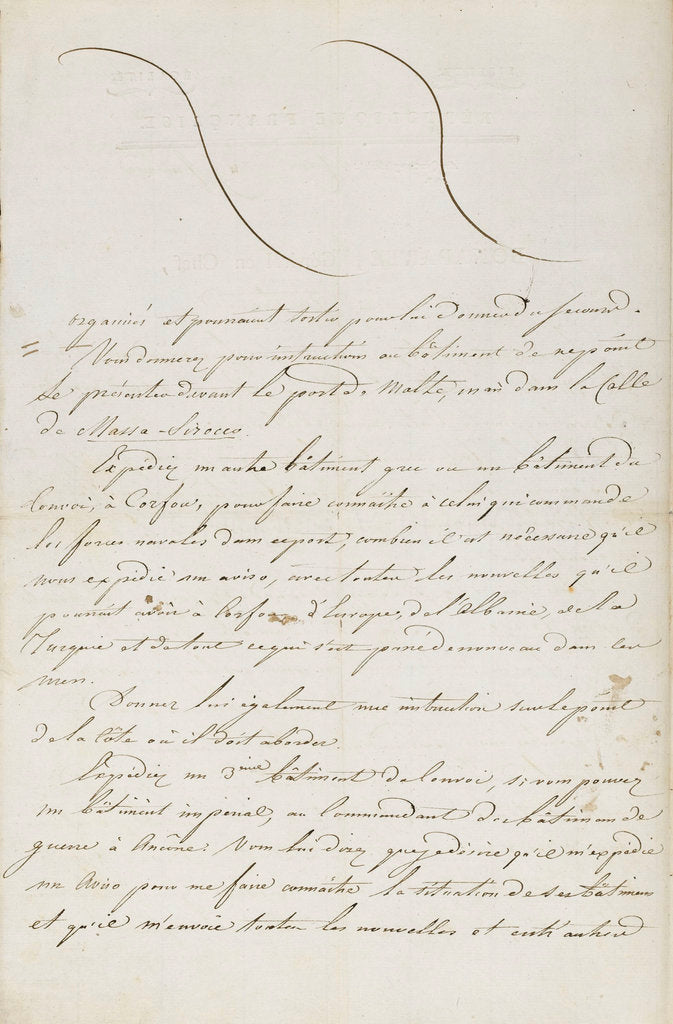 Detail of Letter from Napoleon to Admiral Ganteaume by Napoleon Bonaparte