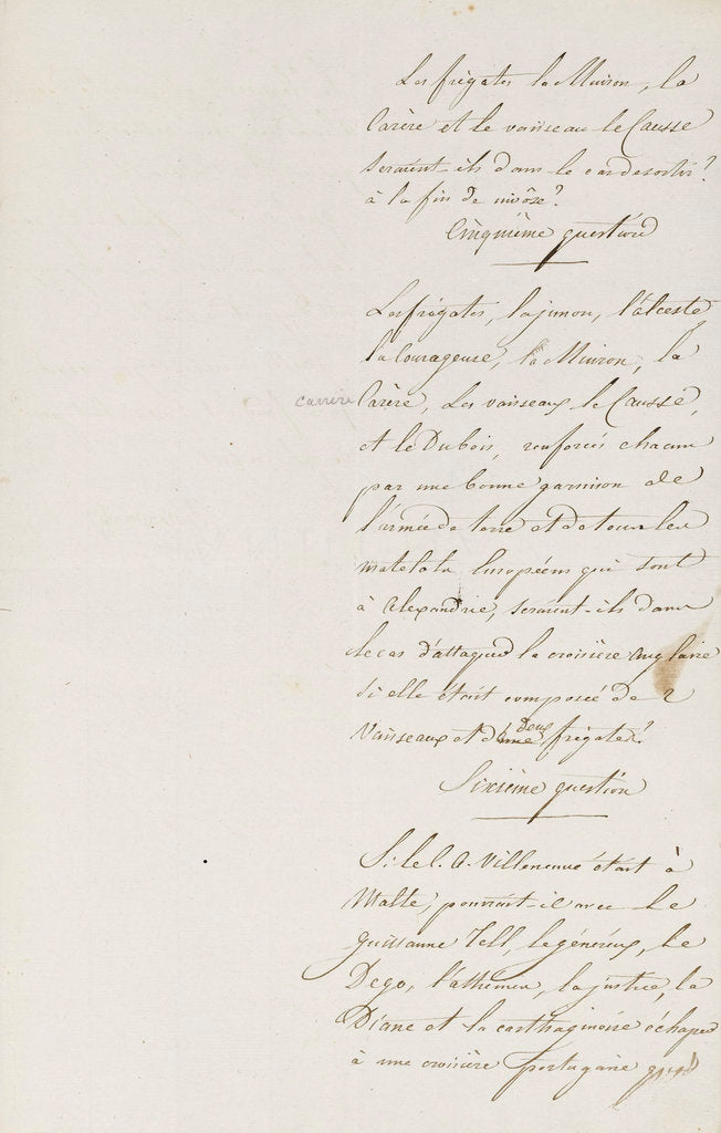 Detail of Letter from Napoleon Admiral Ganteaume, page two by Napoleon Bonaparte