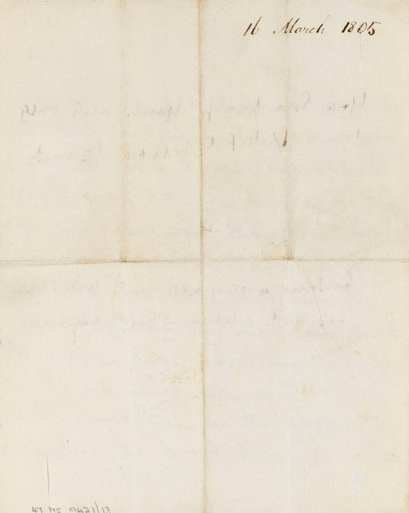 Detail of Letter from Nelson to Emma Hamilton, March 1805 by Horatio Nelson