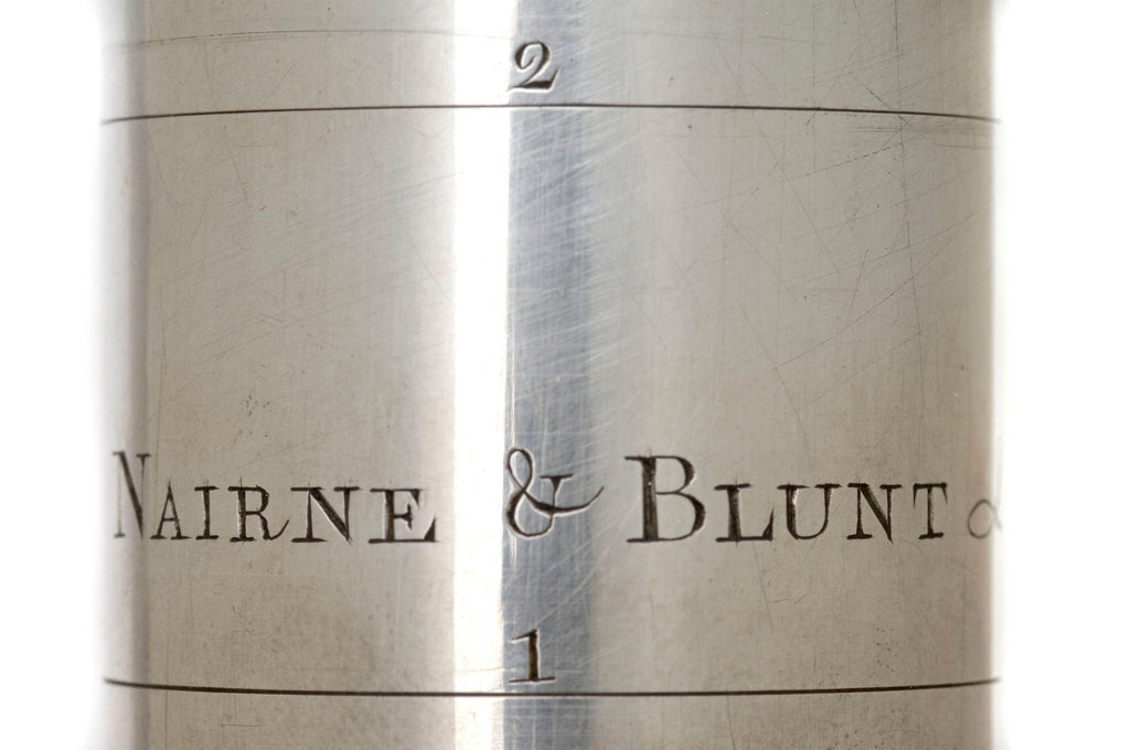 Detail of Pocket telescope - draw tube inscription by Nairne & Blunt
