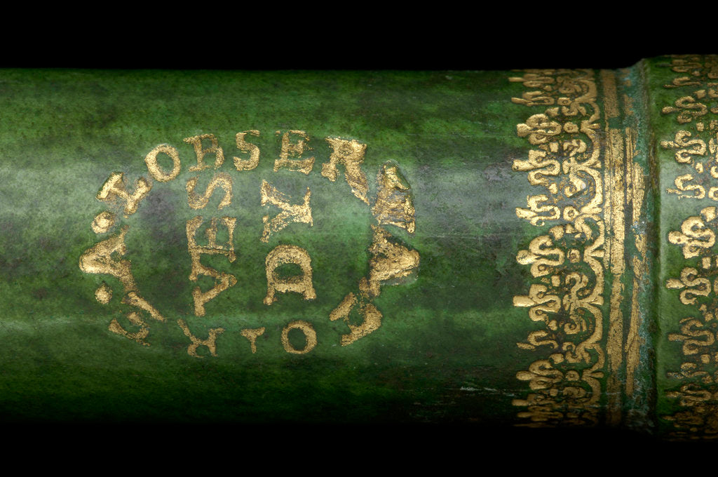 Detail of Pocket telescope - draw tube inscription by unknown