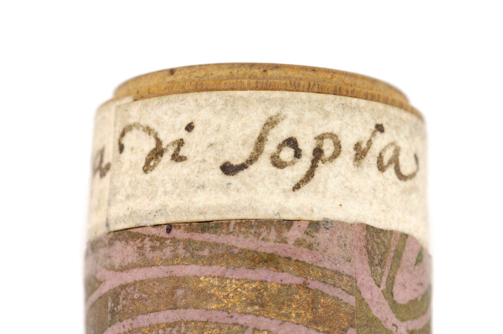 Detail of Pocket telescope - optics combination inscription by Franciscus Sansedonius