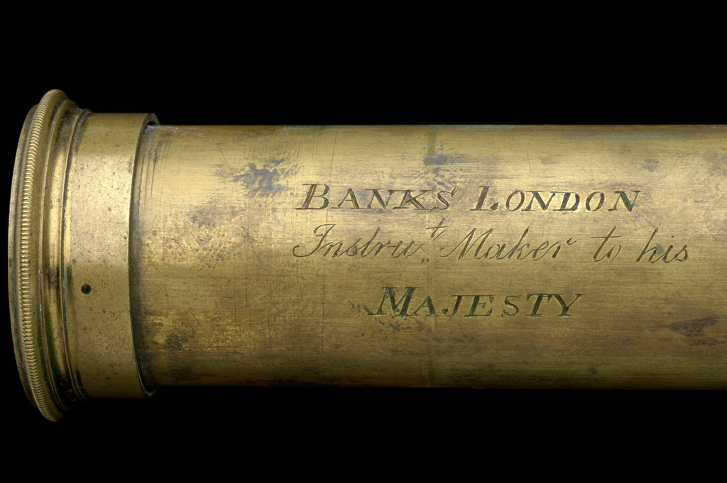 Detail of Pocket telescope - draw tube inscription by Banks