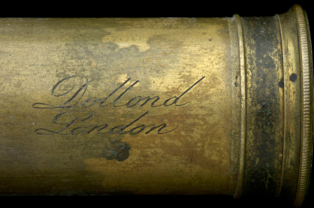 Detail of Pocket telescope - draw tube inscription by Dollond