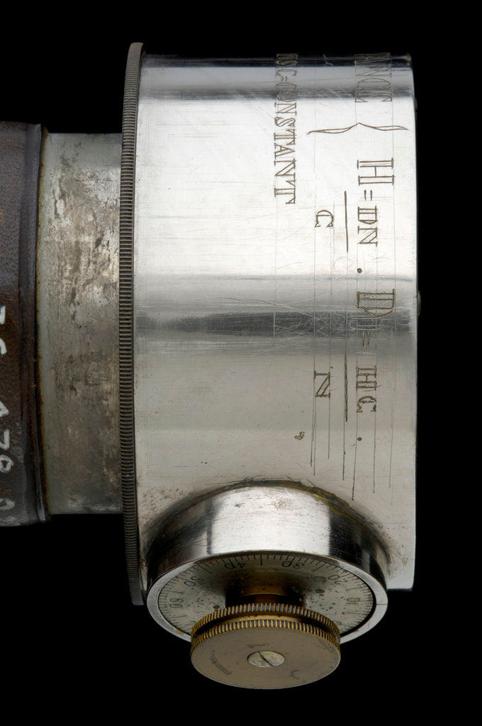 Detail of Rangefinder- inscription by Edward Kahler