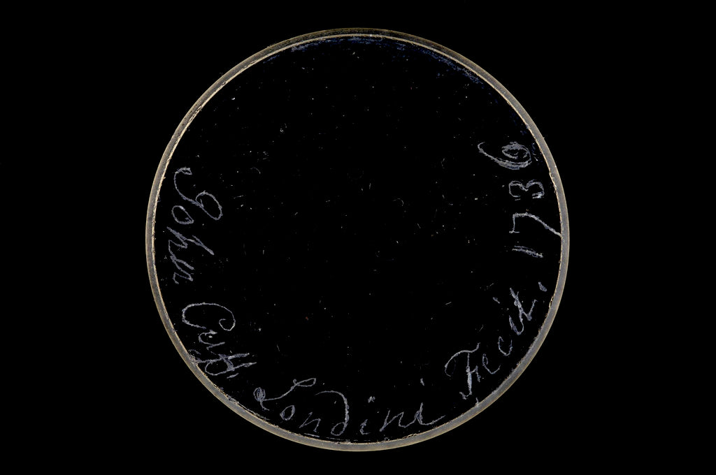 Detail of Pocket telescope - objective lens inscription by John Cuff