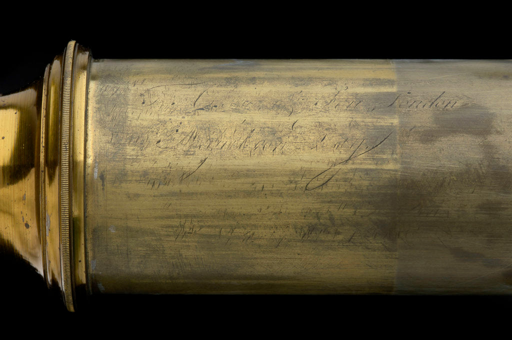 Detail of Day or night telescope- draw tube inscription by Cox & Son