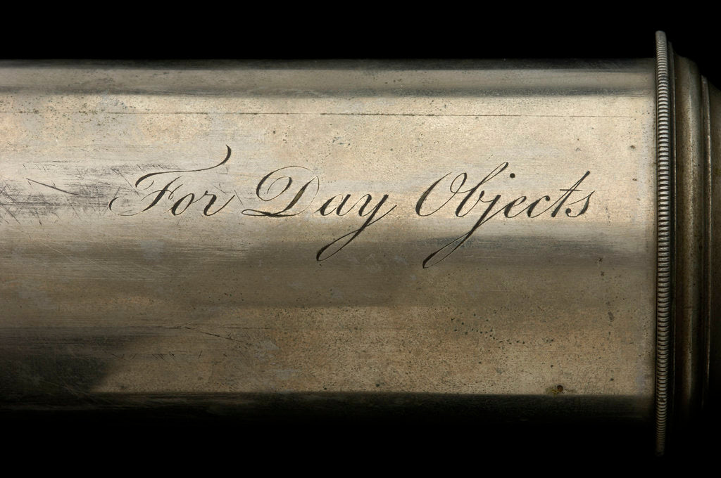 Detail of Day telescope - inscription by Dollond