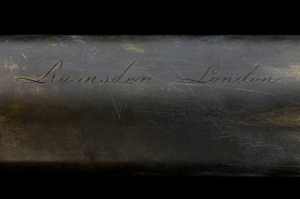 Detail of Naval telescope - inscription by Jesse Ramsden