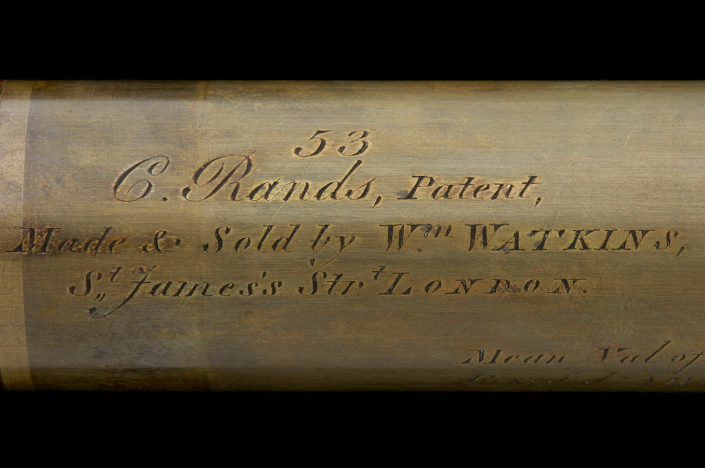 Detail of Rangefinder - inscription by William Watkins